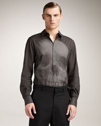 Alexander McQueen - Black Dot-print Skull Shirt for Men - Lyst