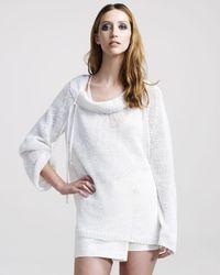 Ann Demeulemeester - White Open-weave Linen Sweater - Lyst