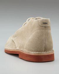 Brunello Cucinelli - Natural Brick-sole Suede Chukka for Men - Lyst
