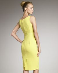 Carolina Herrera - Yellow Ruffled Crepe Dress - Lyst
