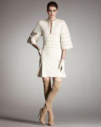 Chado Ralph Rucci | White Wool Jersey Kimono Dress | Lyst