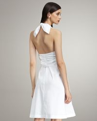 Derek Lam - White Sarong-detail Halter Dress - Lyst