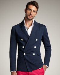 DSquared² | Blue Firenze Doublebreasted Blazer for Men | Lyst