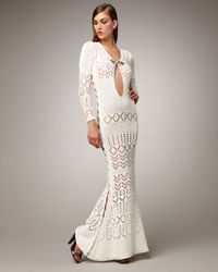 Emilio Pucci | White Crocheted Maxi Dress | Lyst
