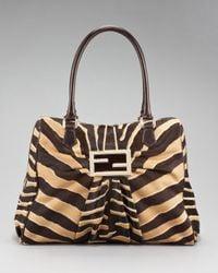 Fendi | Multicolor Zebra-print Calf Hair Mia Bag | Lyst