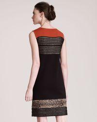 Giambattista Valli | Black Insetstripe Dress | Lyst