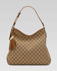 Gucci | Brown Marrakech Medium Hobo | Lyst