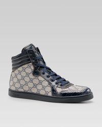 Gucci | Blue Gg Pluscrocodile Sneaker for Men | Lyst