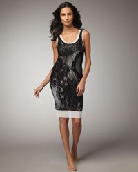 Jean Paul Gaultier | Black Lace Tank Dress Cover-up | Lyst