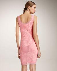 Jean Paul Gaultier - Pink Lace Tank Dress - Lyst