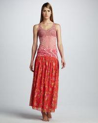 Jean Paul Gaultier   Red Mixedprint Skirt Coverup   Lyst