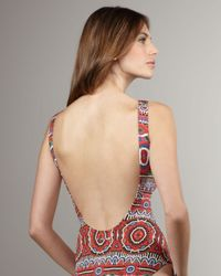 Jean Paul Gaultier | Red Printed One-piece Swimsuit | Lyst