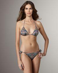Jean Paul Gaultier - Brown Printed String Bikini - Lyst