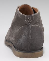John Varvatos Gray Filmore Suede Chukka, Lead for men