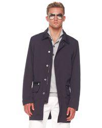 Michael Kors | Black Balmacaan Jacket, Button/zip Sweater & Modern-fit Jeans for Men | Lyst
