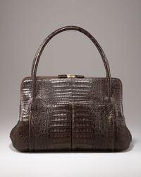 Nancy Gonzalez | Brown Linda Crocodile Bag | Lyst