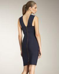Roland Mouret - Blue Wilkes Fold-neck Dress - Lyst