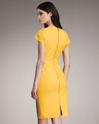 Roland Mouret - Yellow Exclusive Feeny Sheath Dress - Lyst