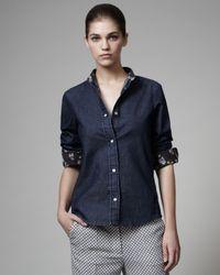 Stella McCartney - Blue Denim Shirt - Lyst