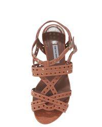 Tabitha Simmons - Pink Flat Lattice Strap Sandal, Rose - Lyst