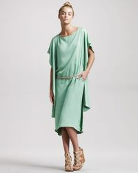 The Row | Green Cape-back Dress | Lyst