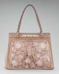 Valentino - Natural Leather Lace Demetra Bag - Lyst