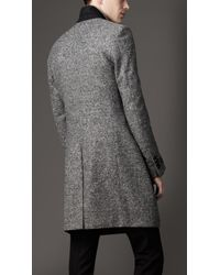 Burberry - Black Donegal Wool Chesterfield Coat for Men - Lyst