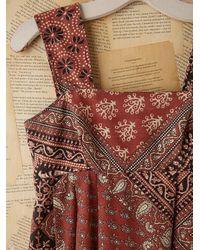 Free People   Multicolor Vintage Batik Printed Dress   Lyst