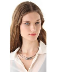 Giles & Brother - Metallic Cortina Necklace with Pave - Lyst