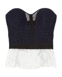 Nina Ricci   Blue Woven Wool-blend Bustier Top   Lyst