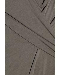 Rick Owens Lilies - Gray Asymmetric Jersey Top - Lyst