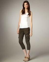7 For All Mankind - Green Aviator Wren Cargo Pants - Lyst