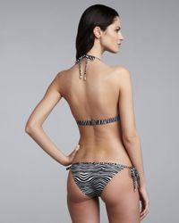 Balmain - Gray String Bikini - Lyst