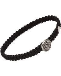 Catherine Zadeh | Black Macrame Cord Bracelet for Men | Lyst