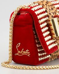 Christian Louboutin - Red Sweet Charity Velvet Shoulder Bag - Lyst