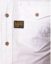 G-Star RAW - White Arizona Lawrence Shirt for Men - Lyst