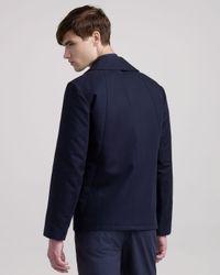 Givenchy - Blue Biker Pea Coat for Men - Lyst