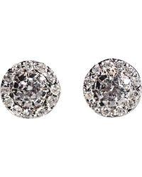 Ileana Makri   Metallic Diamond Stud Earrings   Lyst