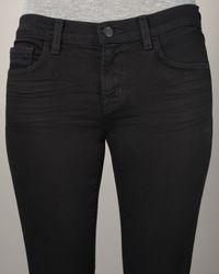 J Brand | Black 912 Low Rise 34 Pencil Jean In Shadow | Lyst