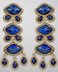 Kendra Scott | Blue Zoe Drop Earrings | Lyst