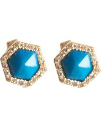 Monique Péan - Blue Women's Hexagonal Opalina Stud Earrings - Lyst