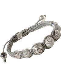 Shamballa Jewels | Metallic White Diamond White Gold Bead Bracelet | Lyst