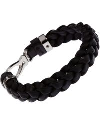 Tod's | Brown Braided Leather Bracelet for Men | Lyst