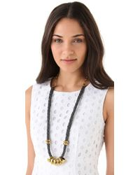 Citrine by the Stones - Gray Hemp Necklace - Lyst