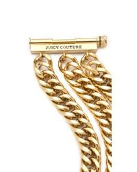 Juicy Couture - Metallic Chunky Multi Chain Bracelet - Lyst
