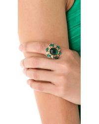 Juicy Couture | Green Jeweled Cocktail Ring | Lyst