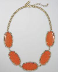 Kendra Scott | Orange Valencia Necklace | Lyst