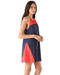 Madison Marcus - Blue Silk Tunic Dress - Lyst