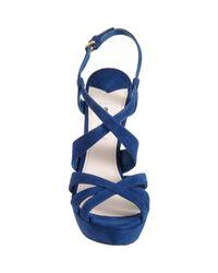 Miu Miu - Blue Strappy Sandal - Lyst