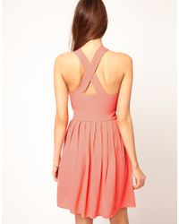 ASOS Collection - Pink Asos Pinafore Dress - Lyst